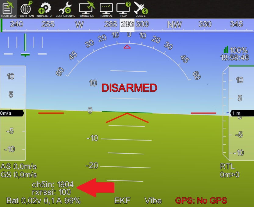 Received Signal Strength Indication (RSSI) — Copter