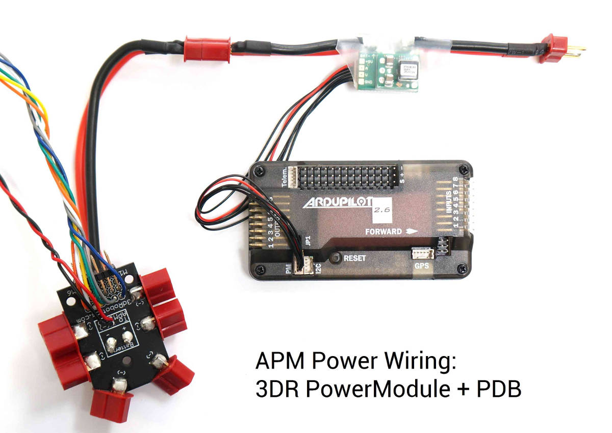 power wiring archived apm2 x wiring quickstart copter documentation 3Dr APM 2.6 Wiring-Diagram at aneh.co