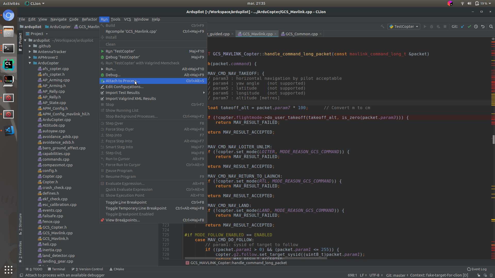 Debugging with GDB on linux — Dev documentation