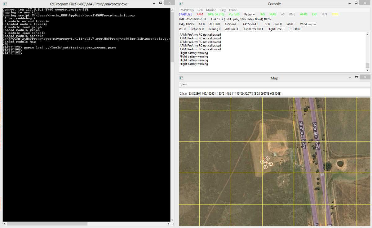 Copter SITL/MAVProxy Tutorial — Dev documentation