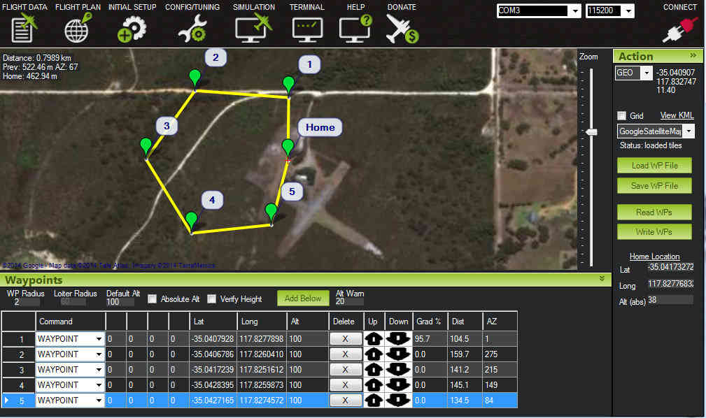 Choosing a Ground Station — Plane documentation