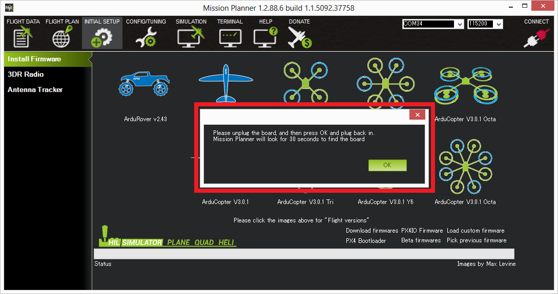 Loading Firmware Mission Planner Documentation