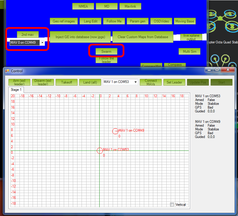 Swarming — Mission Planner documentation