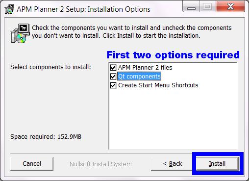 Installing APM Planner for Windows — APM Planner 2 documentation