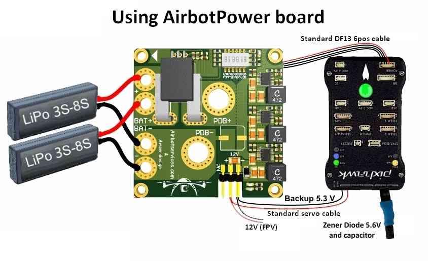 AirbotPower_PowerModule_PowerPixhawkConnectionDiagram airbotpower power module rover documentation pixhawk 2 wiring diagram at webbmarketing.co