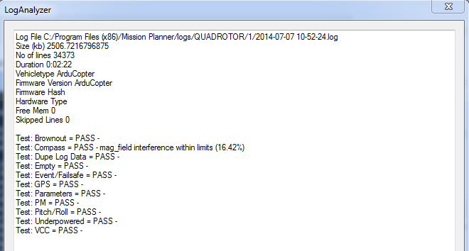 Downloading and Analyzing Data Logs in Mission Planner